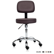 Dr.lomilomi Multi-adjustable Hydraulic Rolling Medical Massage Stool Chair with Backrest 501