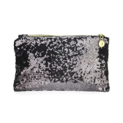 EYX Formula Lady Fashion Dazzling Glitter Sparkling Bling Sequins Handbag Cosmetics Bag ,Retro Luxurious Shining Clutch Purse Evening Party Bag for Wediing Party