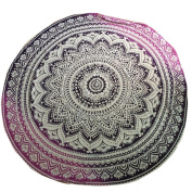 Hatop Round Beach Pool Home Shower Towel Blanket Table Cloth Yoga Mat