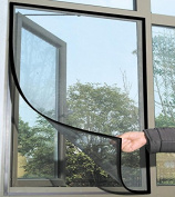 Gemini_mall® Window Insect Screen Net Mesh Kit 1.3m x 1.5m Black