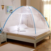 Mongolian Bag Holder Free To Instal Mosquito Nets ( Colour : Blue , Size : 1.2 m