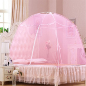 Yurts Double Open Door Zipper Dinette Home With Mosquito Nets ( Colour : Pink , Size : 1m