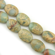 """COIRIS 15"""" Strand 14x10mm Oval Beads Natural Real Stone For Jewellery DIY Making Design"""