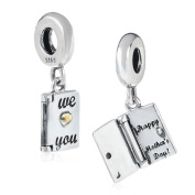 Happy Mother's Day Charm 925 Sterling Silver Love Charm Book Charm for Pandora Bracelet
