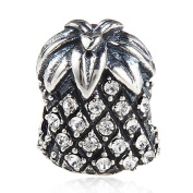 Pineapple Charm 925 Sterling Silver Lucky Charm Fruit Charm Christmas Charm for Pandora Bracelet