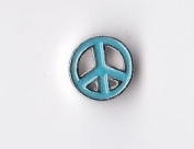 Blue Peace Sign Cutout Floating Charm