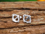 MFMei White Gold Plated Ear Stud Components, Jewellery Findings