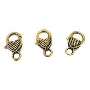3 antique gold lobster claw Clasps