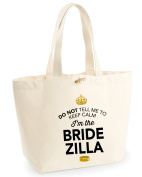 Bride Zilla, Bride to be Bag, Tote Bag, Bride to be Keepsake, Wedding Gift, Present, Bride to be, Bride to be Bag, Hen Do Gifts, Ideas For Bride to be, Keepsake