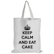 Keep Calm And Eat Cake - Baking / Funny Gift Idea / Novelty Gift White Shopping / Tote Bag