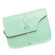 Xjp Casual Small Shoulder Bag Leather Solid Colour Crossbody Messenger Bag Purse Bag