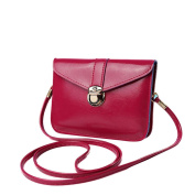 Xjp Mini Leather Shoulder Bag Solid Colour Crossbody Messenger Bag Purse Bag