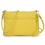 Xjp Fashion PU Leather Shoulder Bag Solid Colour Crossbody Messenger Bag Purse Bag