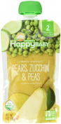 Happy Family Stage 2, Pears, Zucchini and Peas, 120ml