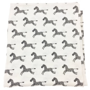 Bambino Land Big Bambino Bamboo Single Layer Muslin Blanket - Zebras