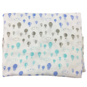 Bambino Land Big Bambino Bamboo Single Layer Muslin Blanket - Hot Air Balloons