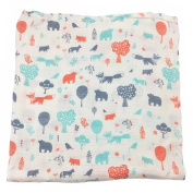 Bambino Land Big Bambino Bamboo Single Layer Muslin Blanket - Forest Animals