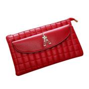 Anshinto Women Lingge Eiffel Tower Zipper Coin Purse Wallet Fashionable Small Card Holders Handbag