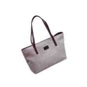 Anshinto Womens Canvas Shoulder Bag Large Capacity Linen Handbag Lady Shoppers Tote Shopping Bag