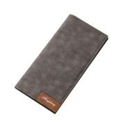 Men's Purse Mokao Split LeathHot Summer Classic Soft Casual Handbags Slim Bi-Fold Flip Wallet