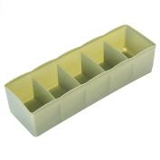 Bluelans® 5 Cells Plastic Drawer Dividers Closet Organiser Bra Underwear Lingerie Socks Tie Storage Box Cosmetic Tidy