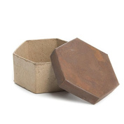Package of 4 Octagon Shaped Paper Mache Boxes with Rusty Tin Lids for Crafting, Storing and Creating