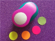 "Fascola 1""(2.5cm) wave circle EVA foam hole punches paper punch greeting card handmade DIY scrapbook craft punch machine"
