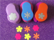 Fascola 3PCS different beautiful Flowers Shape 2.5cm craft punch set Scrapbook DIY Paper Cutter EVA foam Hole Punches