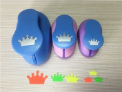 Fascola 3PCS (3.8cm ,2.5cm ,1.6cm ) Crown shape craft punch set cortador de papel de scrapbook paper cutter Eva foam hole punches
