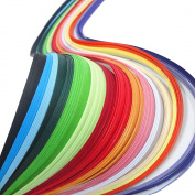 Misscrafts Paper Quilling Strips set 720 Strips 36 Colours