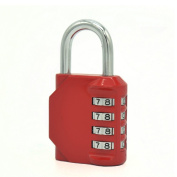 Kunbao Combination Lock 4 Digit Padlock Made of Zinc Alloy Red Colour