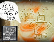 SoapRepublic Hi Robot Acrylic Soap Stamp / Cookie stamp