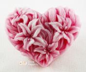 SoapRepublic Hearted Lilies Silicone Soap Mould