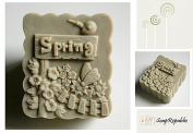 SoapRepublic Spring Silicone Soap Mould + a free soap stamp