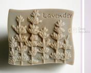SoapRepublic Lavender Silicone Soap Mould + a free soap stamp
