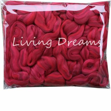 SPINNING FELTING Super Soft Merino Wool Fibre. Colourful Combed Top Roving for hand spinning, needle felting, wet felting, soap making and dryer balls. Guns n Roses