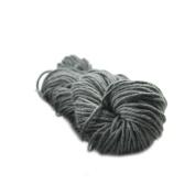 Wool Knitting DIY Woven Thread Polyester Yarn Hand Crocheted Blanket Elastic-Dark Grey