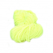 Wool Knitting DIY Woven Thread Polyester Yarn Hand Crocheted Blanket Elastic-Fluorescent Yellow