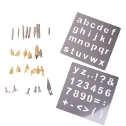 Jili Online 28pcs/sets Wood Burning Soldering Tips with Stencils Woodcraft Burning Accessories Kit