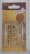 Hot Craft Hobby Wood & Leather Drawing Tip Set D - 6 pieces