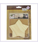 Hot Craft Hobby Wooden Board - Star, 2pc blister pack