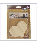 Hot Craft Hobby Wooden Board - Heart Shape, 2pc blister pack