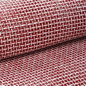 Efavormart Premium Raffia Picnic Party Upholstery Fabric Bolt - RED/WHITE - 140cm x 4 Yards