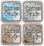 SPECIAL BUNDLE:Tim Holtz Distress Oxide Ink Pads-Broken+Iced+Vintage+Walnut
