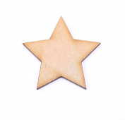Pack of 100 MDF 40mm Stars by WWS - Arts & Crafts, Scrapbooks, Decorations