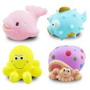Berry President(TM) 4pc Novelty Rubber Animal Floating Bath Toys