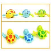 Chendongdong Baby Small Animal Bath Turtle Toys Soft Baby Bath Toys Floating Bath Toy Turning the clockwork Swim Forward