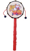 Berry President(TM) Red Festival Rattle Drum Percussion Childrens Musical Toy Educational Toys Baby Hand Fun Gift