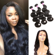 Ossilee Hair Peruvian 360 Lace Frontal Closue with Bundles Body Wave Natural Hairline Lace Band 360 Lace Frontal Closure with Peruvian Body Wave Virgin Hair