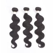 MONIKAHAIR 100% Unprocessed Remy Brazilian Virgin 25cm to 70cm 3 Bundles 100g Body Wave Natural Black X Series Hair